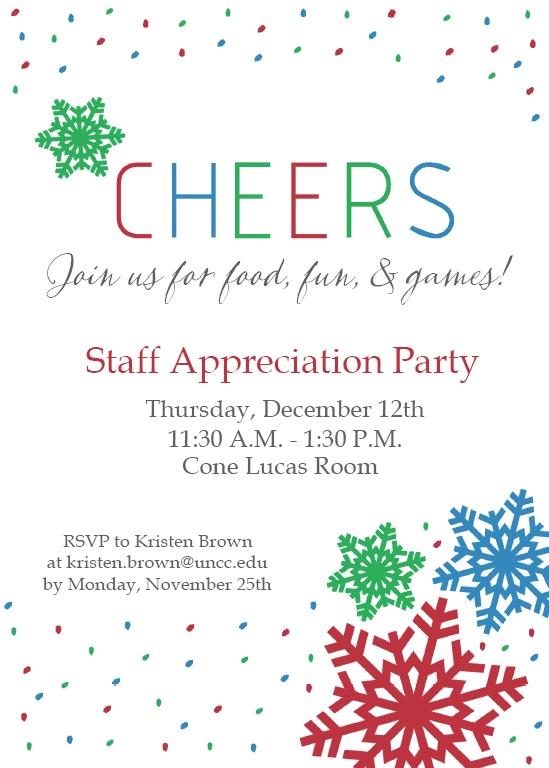 Staff Appreciation Luncheon Invitation
