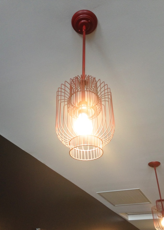 Red Birdcage Light
