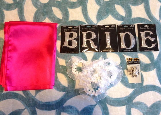 DIY Bride Bachelorette Sash