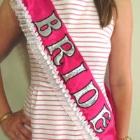 DIY Bride Bachelorette Sash